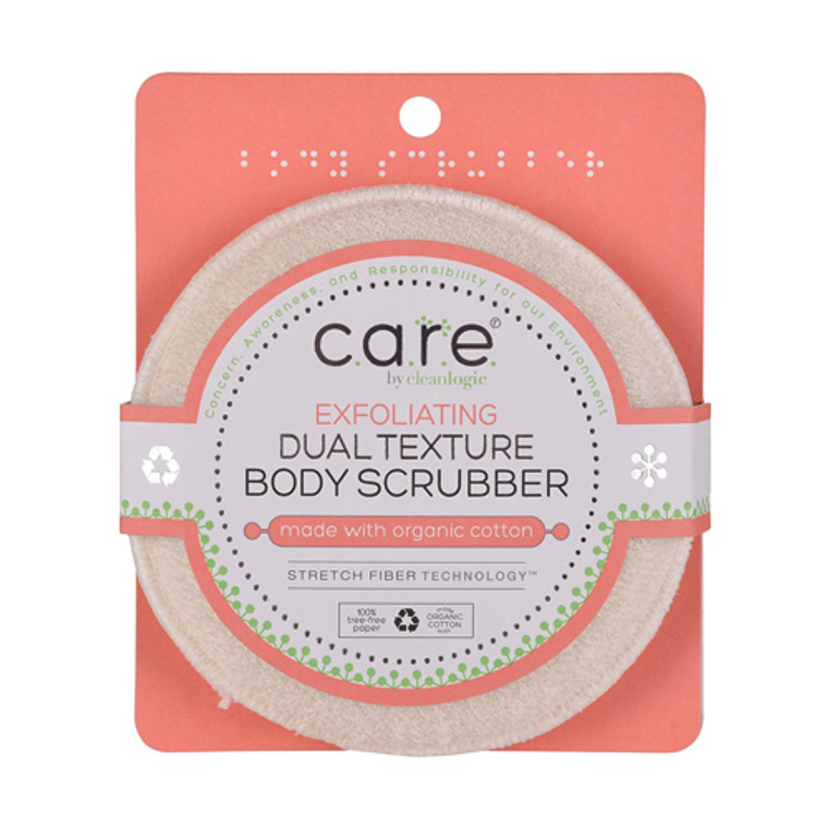 Cleanlogic Exfoliating Dual Texture Face and Body Scrubber, 1 Ea