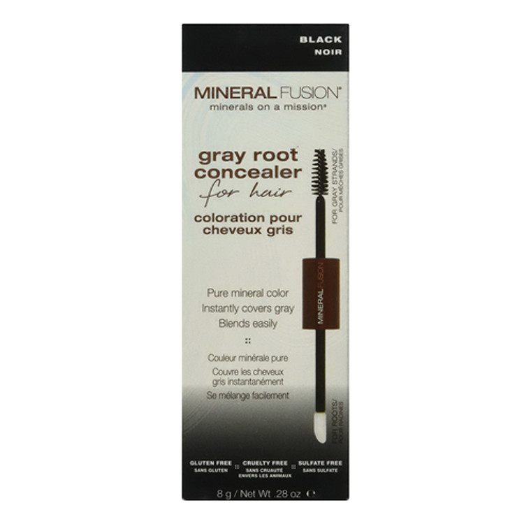 Gray Root Concealer For Hair Black By Mineral Fusion, 0.28 Oz