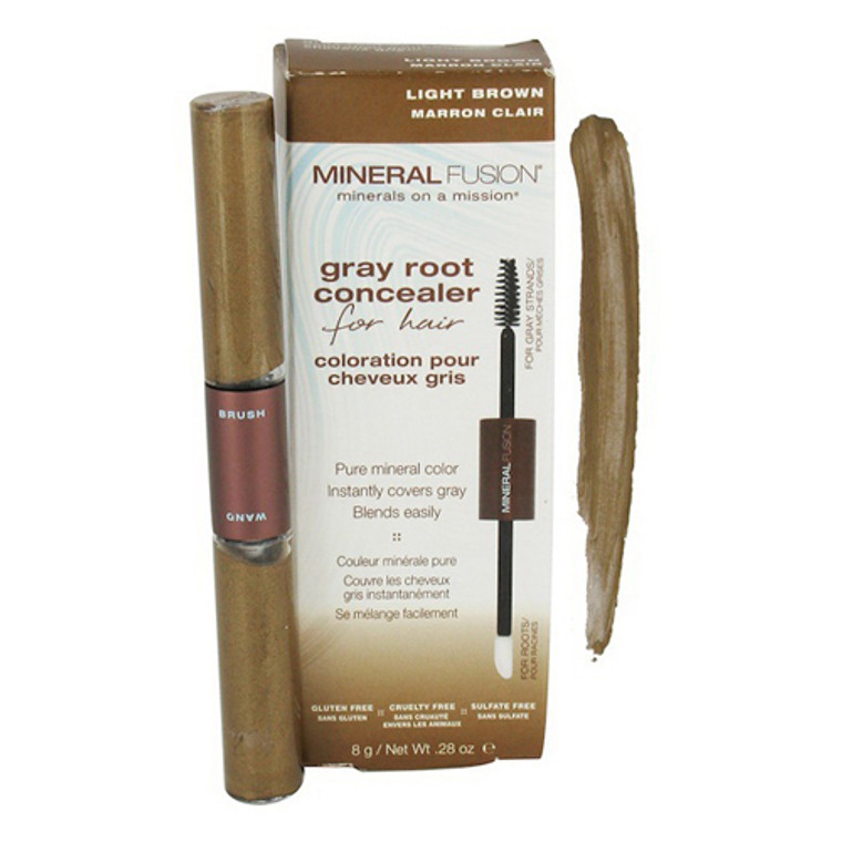 Light Brown Gray Root Concealer For Hair By Mineral Fusion, 0.28 Oz