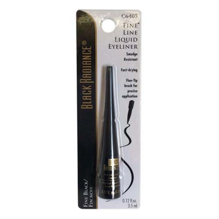 Black Radiance Fine Line Liquid Eyeliner, Fine Black - 3 Ea