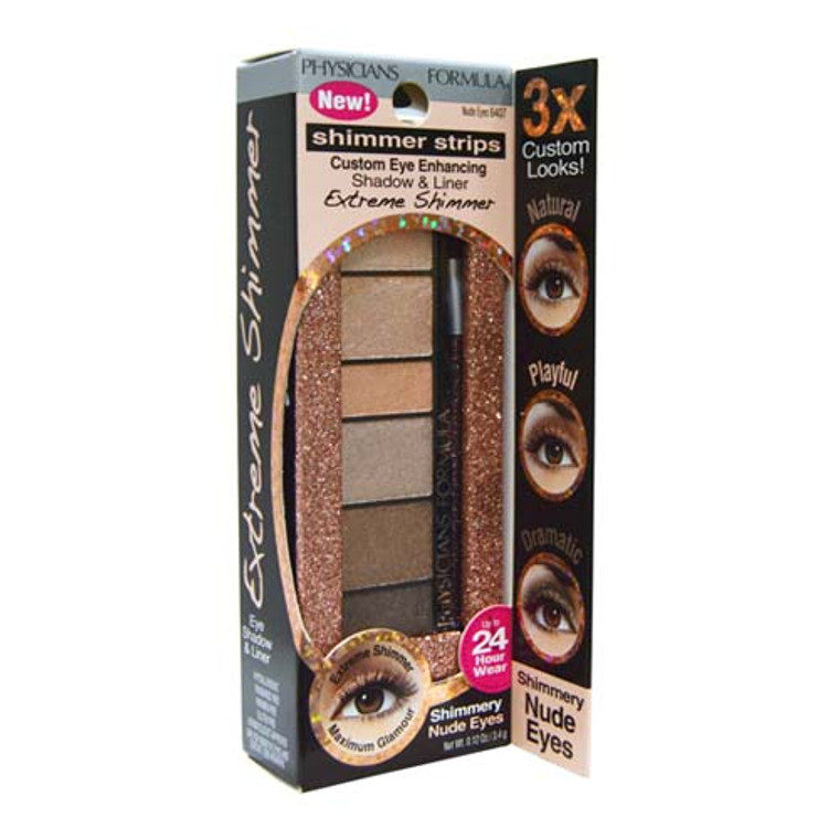 Physicians Formula Shimmer Strips Extreme Shimmer Shadow And Liner, 6407 Nude Eyes, 0.12 Oz