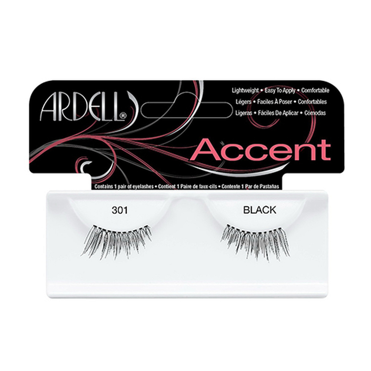 Andrea Accents Eye Lashes #301 Black, 1 Pair, 4 Ea