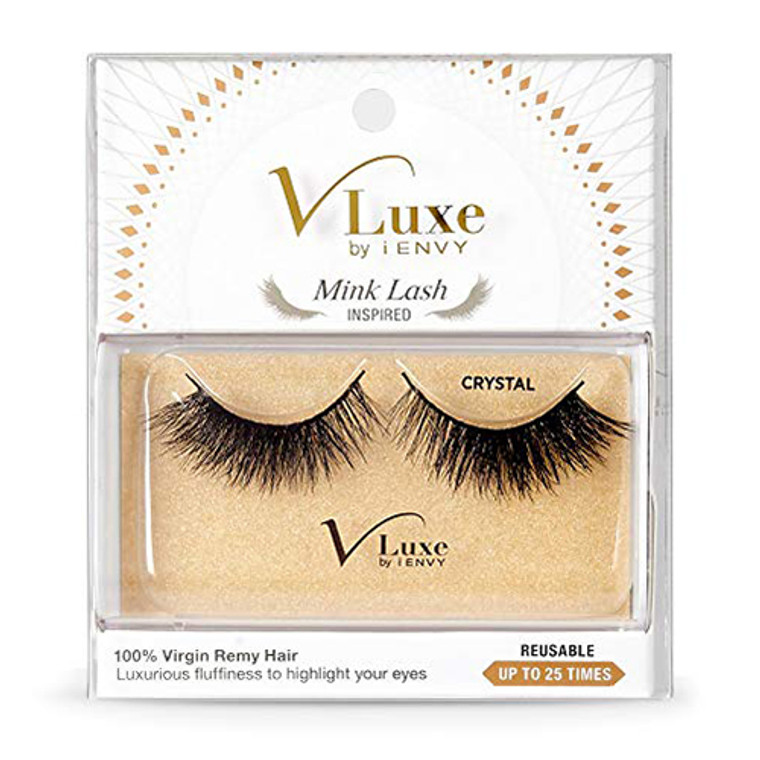 Kiss V Luxe by I Envy Mink Lashes Crystal Eye Lashes, 1 Pair