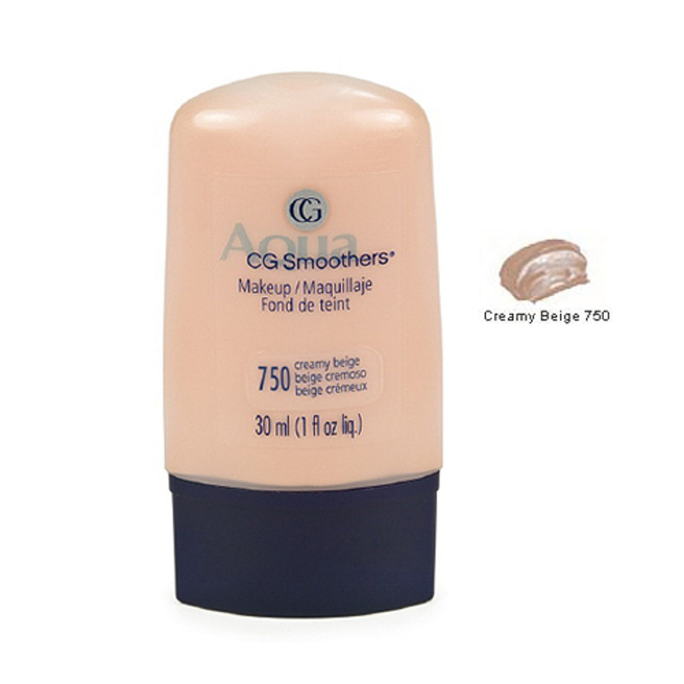 Covergirl Smoothers Liquid Foundation Makeup  750, Creamy Beige - 1 Oz