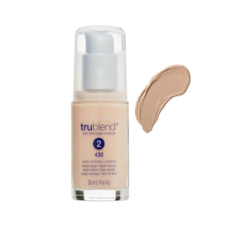 Covergirl Trublend Liquid Makeup Foundation 430, Classic Beige - 1 Oz, 2 Ea