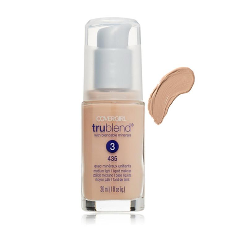 Covergirl Trublend Liquid Makeup Foundation 435, Medium Light - 1 Oz, 2 Ea