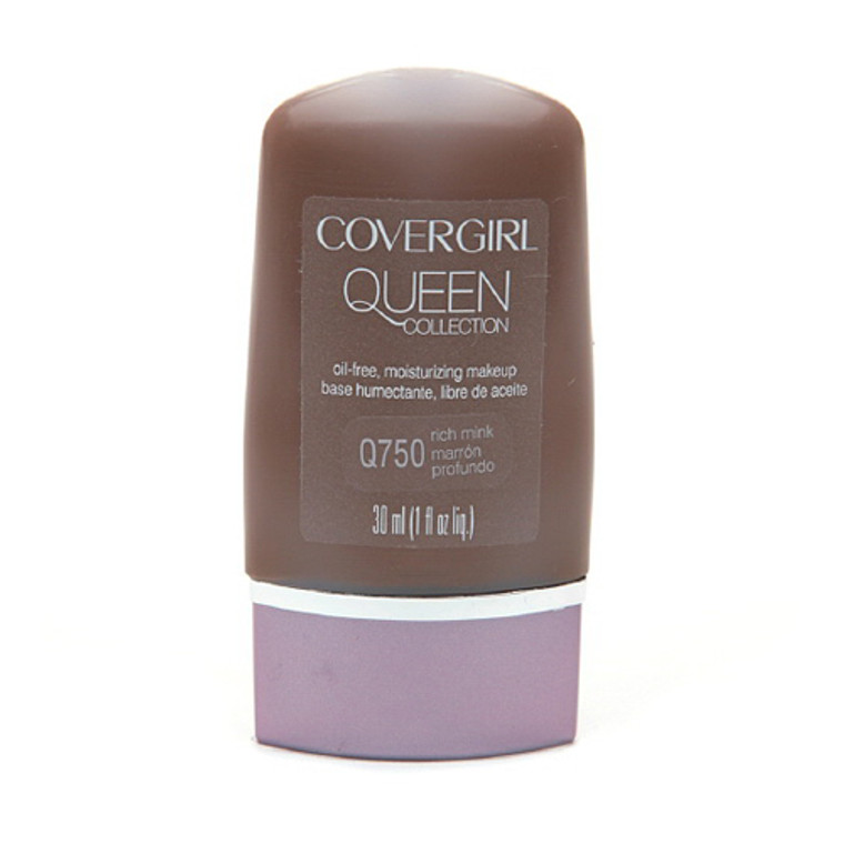 Covergirl Queen Collection Liquid Makeup Foundation Q750, Rich Mink - 1 Oz, 2 Ea