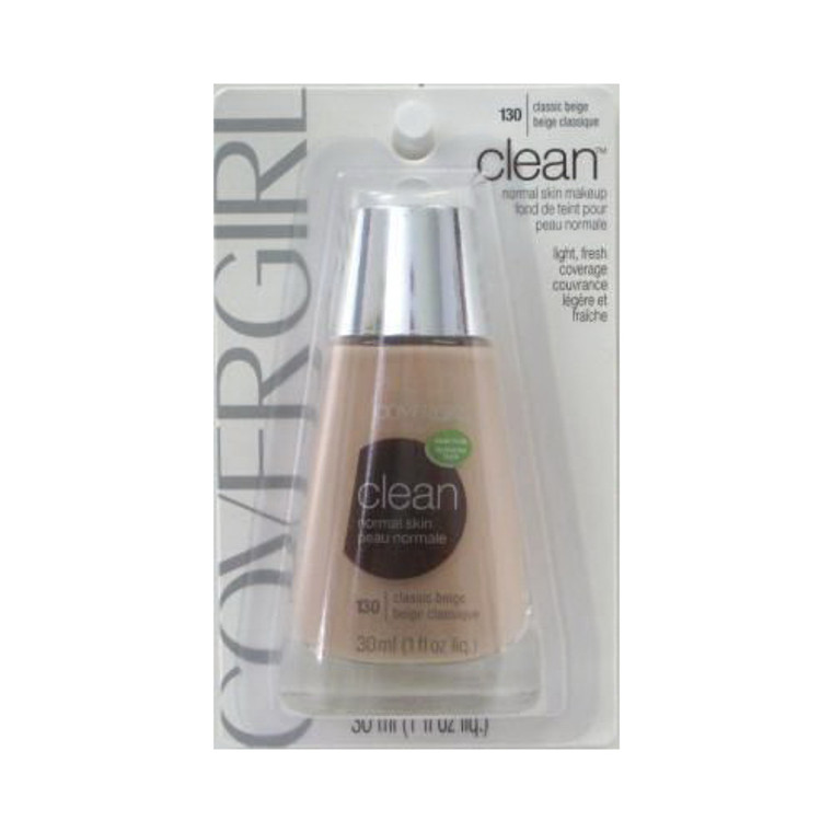Covergirl Clean Foundation For Normal Skin 130, Classic Beige - 1 Oz, 2 Ea