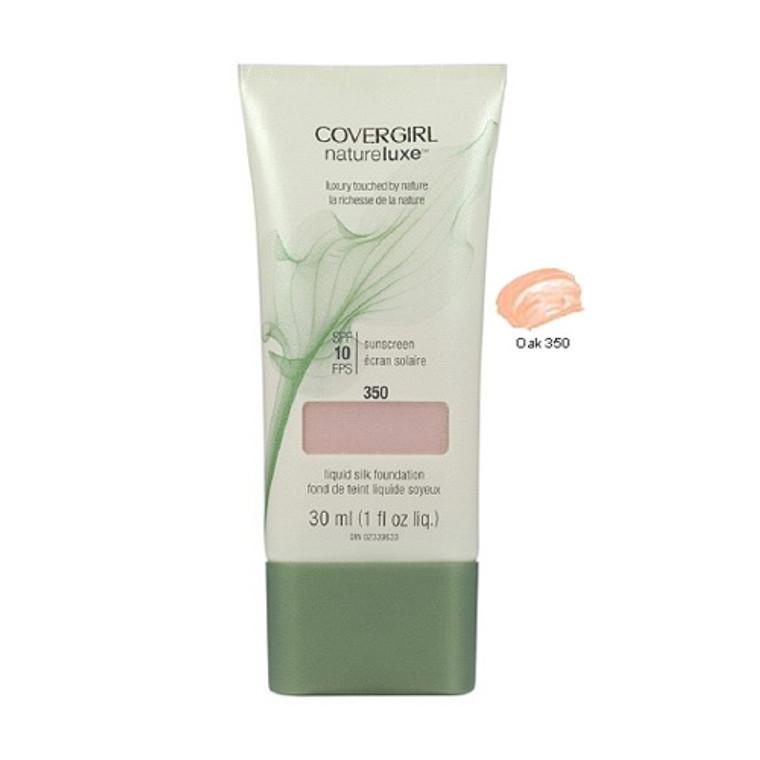 Covergirl Natureluxe Silk Liquid Makeup Foundation 350, Oak - 1 Oz, 2 Ea