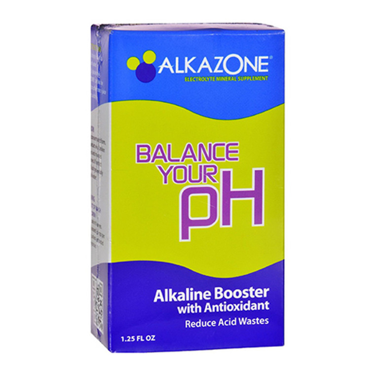 Alkazone Alkaline Booster Drops With Antioxidant - 1.25 Oz
