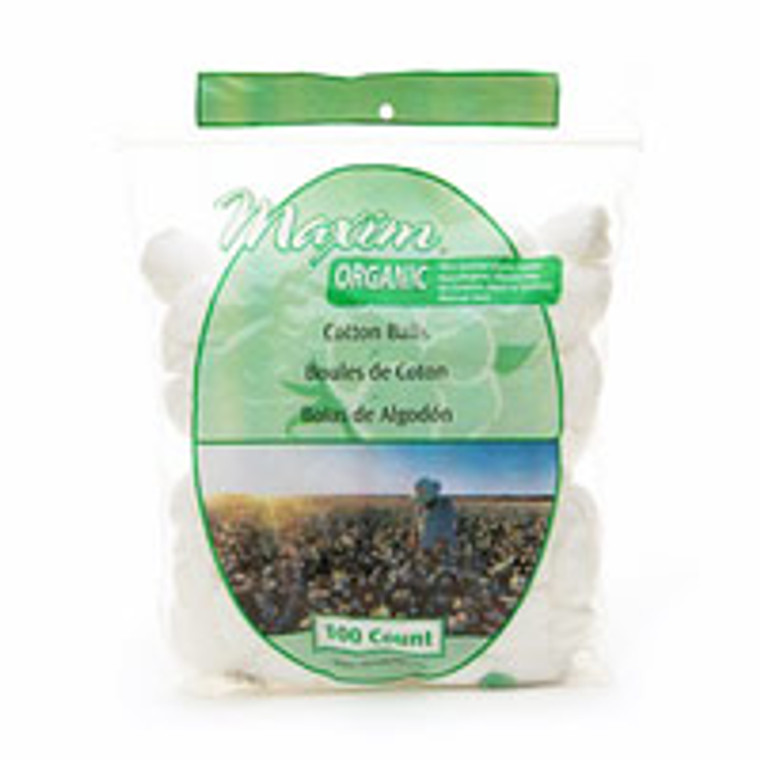 Maxim Organic Cotton Balls - 100 Ea, 3-Pack