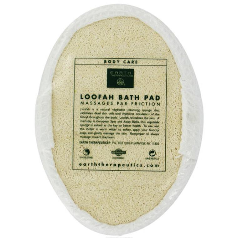 Earth Therapeutics Loofah Bath Pad Puff Sponge - 1 Ea