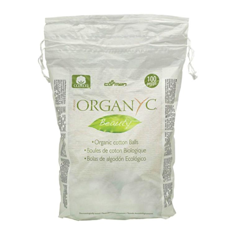 Organyc Beauty 100% Organic Cotton Balls For Sensitive Skin, 100 Ea