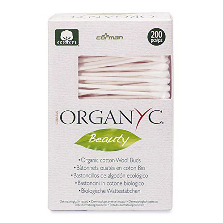 Organyc Beauty Cotton Swabs For Daily Cosmetics And Body Care, 200 Ea