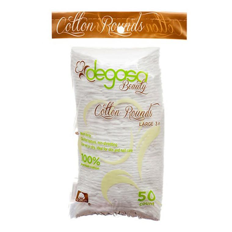 Degasa Beauty Cotton Rounds Large 3 Inch, 50 Ea