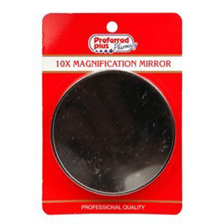 10X Magnification Round Mirror By Kpp, Professional Quality, 2 3/4 Inches