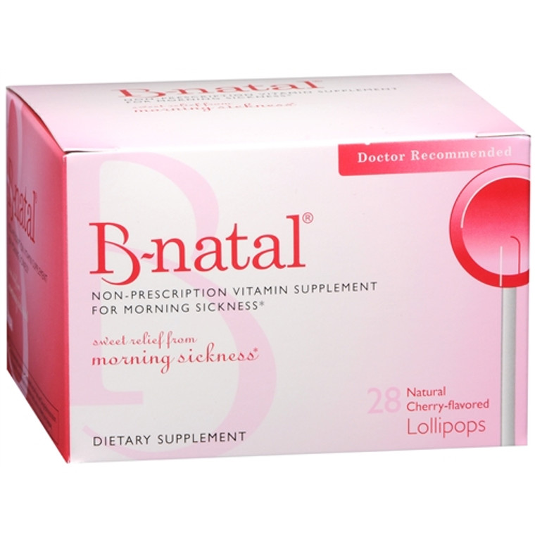 B-Natal Therapops For Morning Sickness, Cherry Flavor - 28 Ea