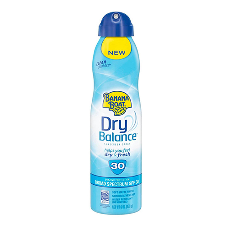 Banana Boat Dry Balance Sunscreen Spray With SPF 30, 6 Oz