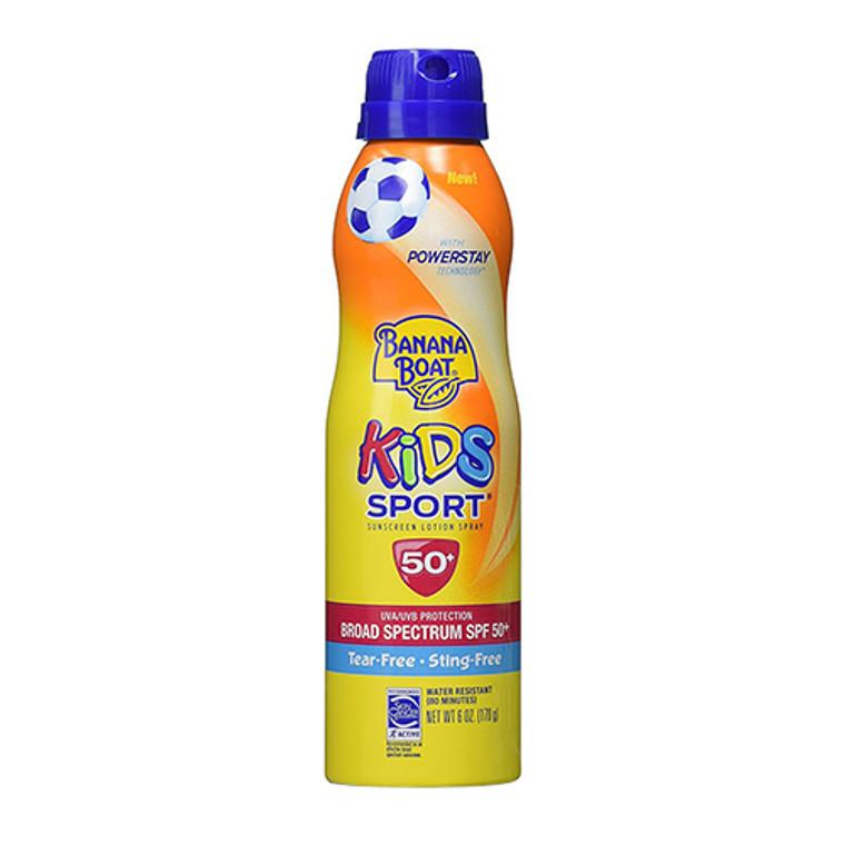 Banana Boat Kids Sport Sunscreen Lotion Spray SPF 50, 6 Oz