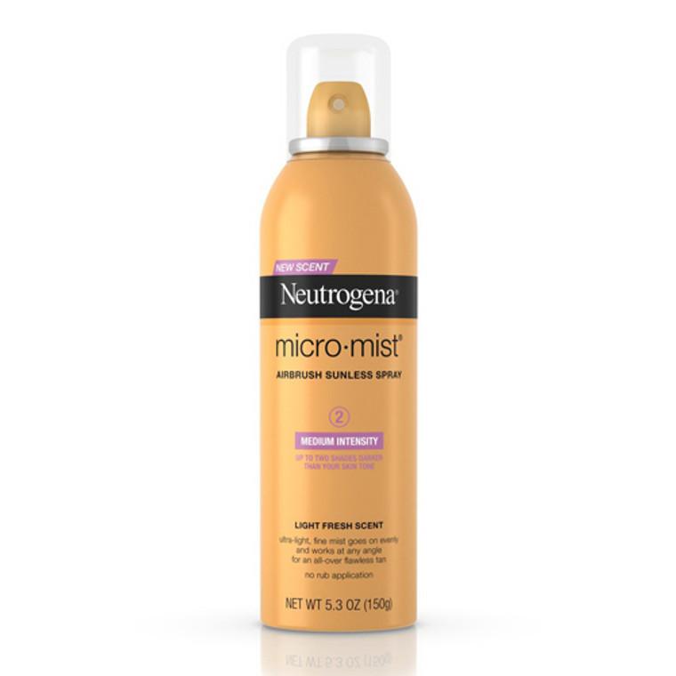 Neutrogena Micromist Sunless Tanning Spray, Medium - 5.3 Oz