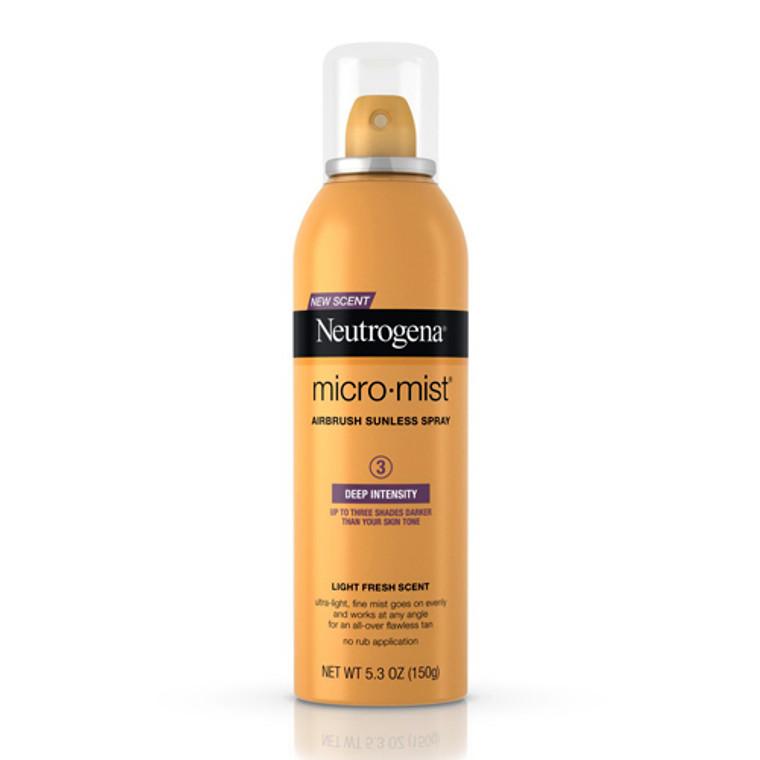 Neutrogena Micromist Tanning Sunless Spray, Deep - 5.3 Oz