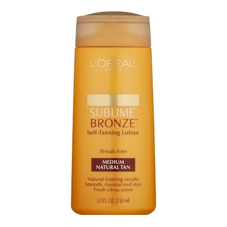 Loreal Paris Sublime Bronze Self Tanning Lotion for Skin, Medium Natural Tan, 5 Oz