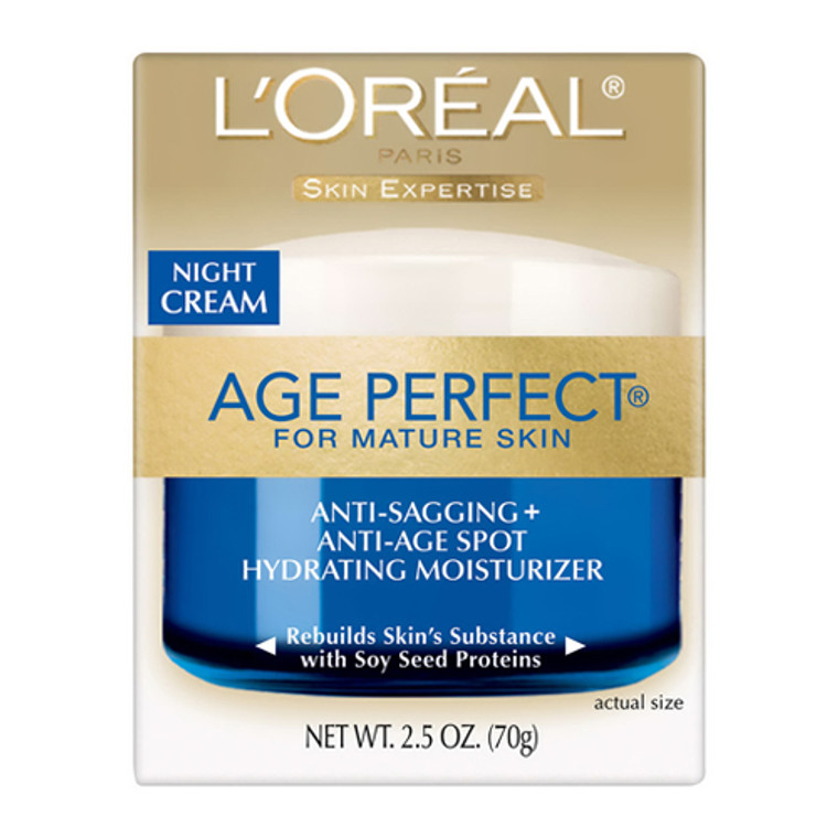 Loreal Age Perfect Anti Sagging And Ultra Hydrating Night Cream For Mature Skin - 2.5 Oz