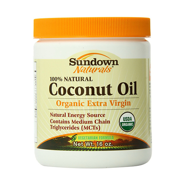 Sundown 100% Natural Organic Extra Virgin Coconut Oil - 16 Oz