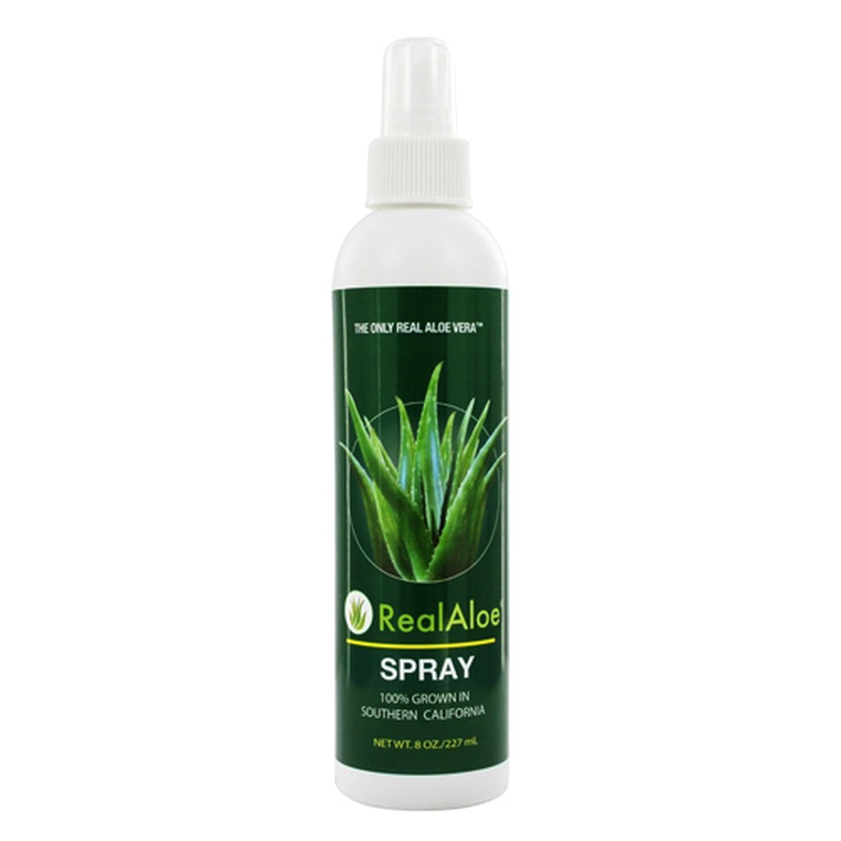 Real Aloe Organically Grown Aloe Vera Spray, 8 Oz