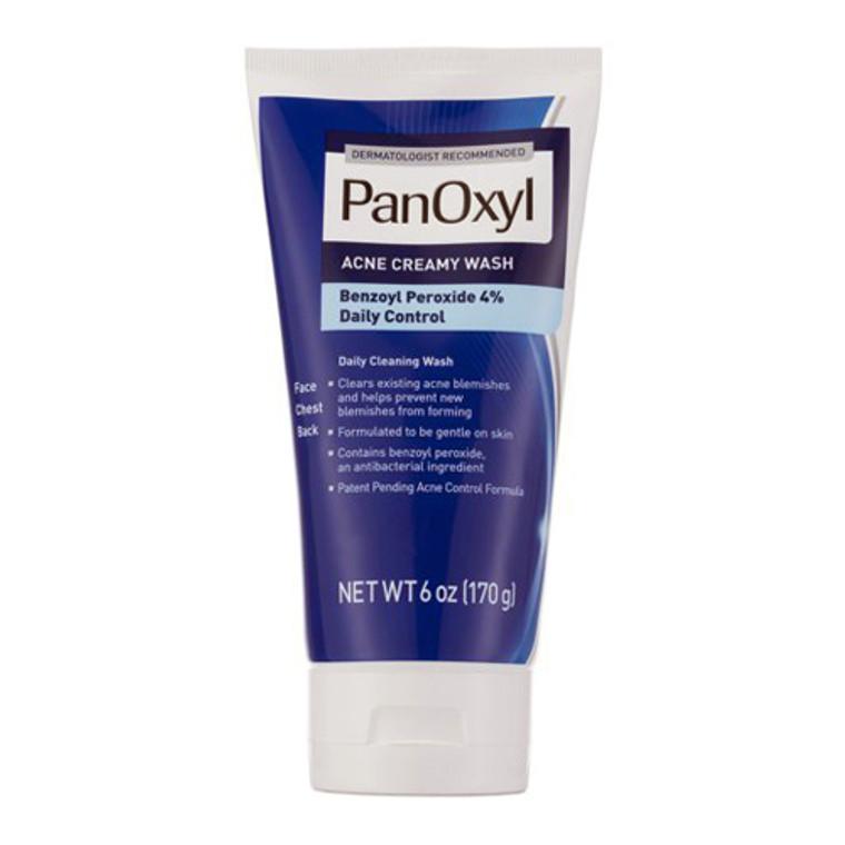 Panoxyl Acne Creamy Face Wash, Daily Control, 6 Oz