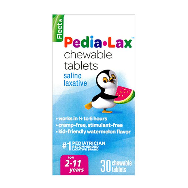 Fleet Pedia-Lax Saline Laxative Chewable Tablets, Watermelon - 30 Ea