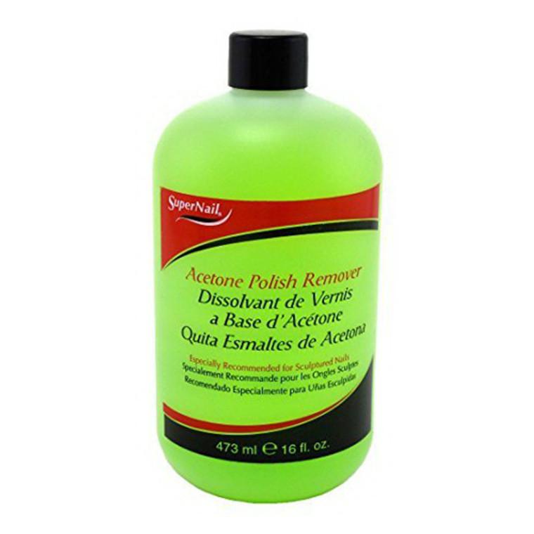 Super Nail Acetone Polish Remover, 16 Oz