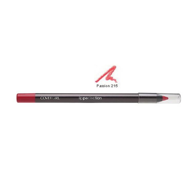 Covergirl Lip Perfection Lip Liner Pencil 215, Passion - 0.04 Oz, 2 Ea