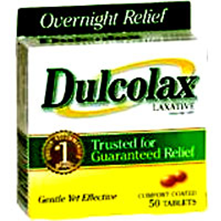 Dulcolax 5 Mg Laxative Tablets To Relieve Constipation - 50 Ea