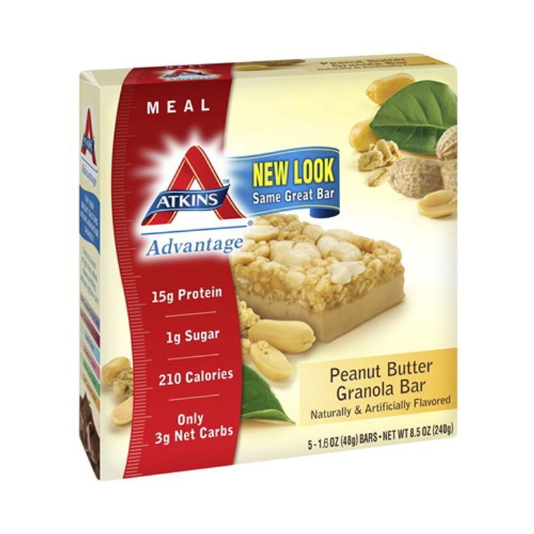 Atkins Advantage Peanut Butter Granola Bar - 1.6 Oz, 5 / Pack