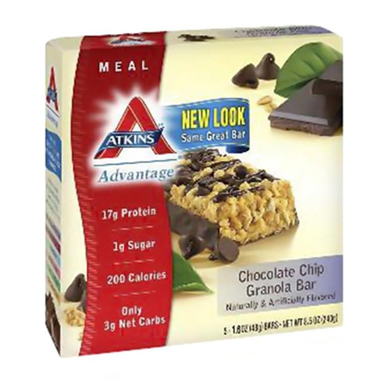 Atkins Advantage Chocolate Chip Granola Bar - 5 / Pack, 1.6 Oz