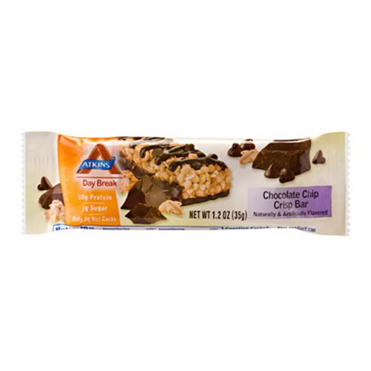 Atkins Day Break Chocolate Chip Crisp Bar - 5 / Pack, 1.2 Oz