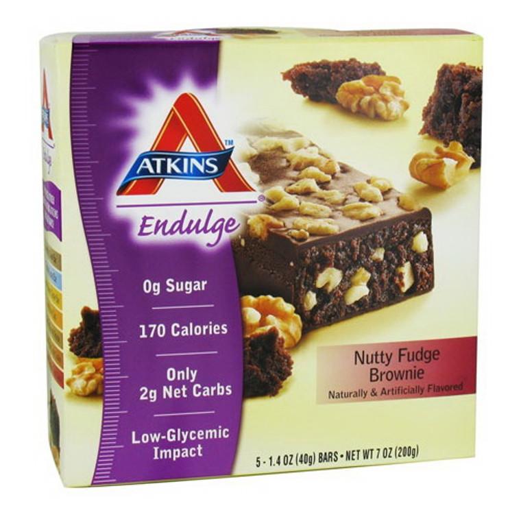 Atkins Endulge Nutty Fudge Brownie Bars - 1.4 Oz, 5 / Pack