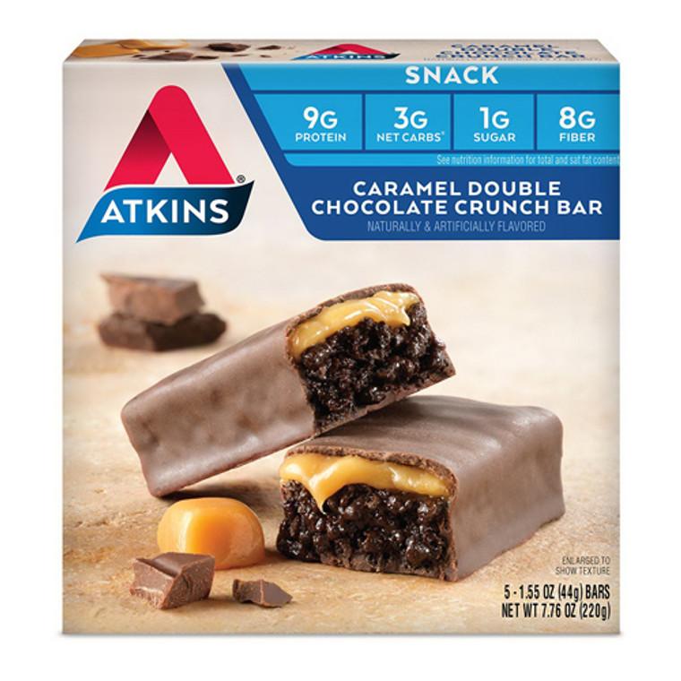 Atkins Snack Bar Caramel Double Chocolate Crunch, 5 Ea