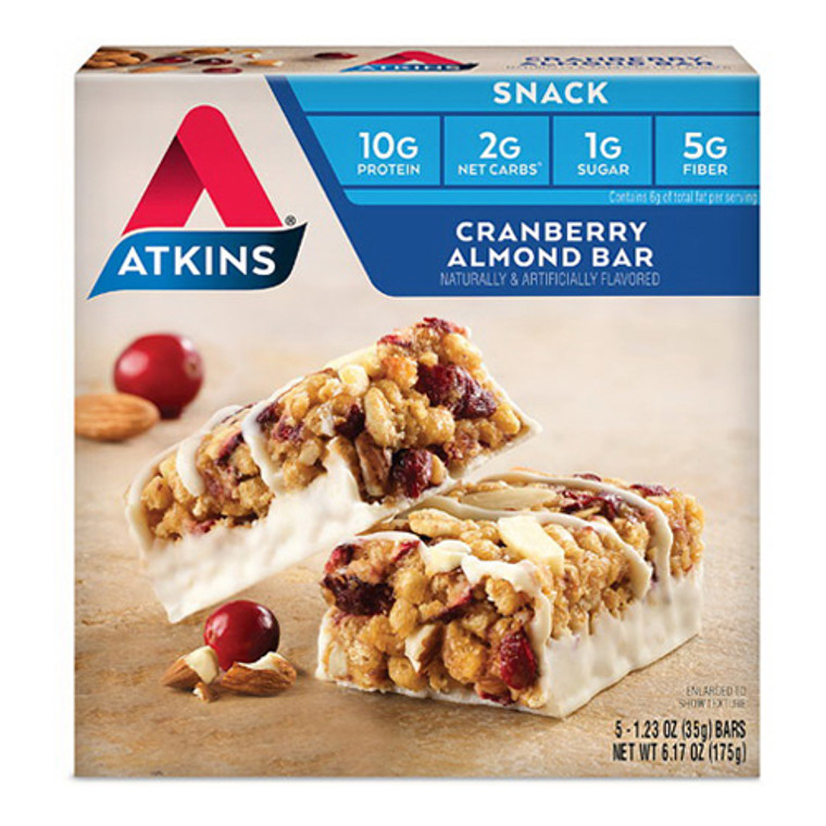 Day Break Cranberry Almond Bars By Atkins, 5 Ea