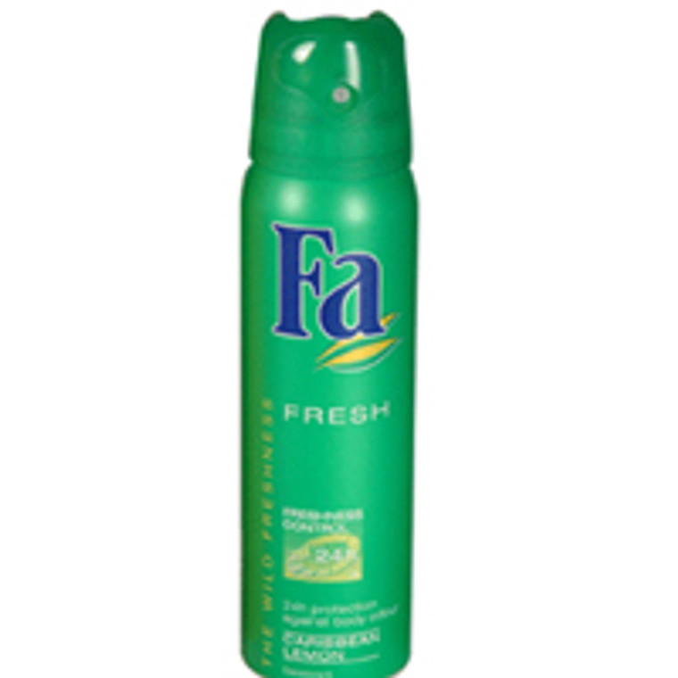 Fa 24 Hour Active Deodorant And Antiperspirant Caribbean Lemon Spray - 5 Oz