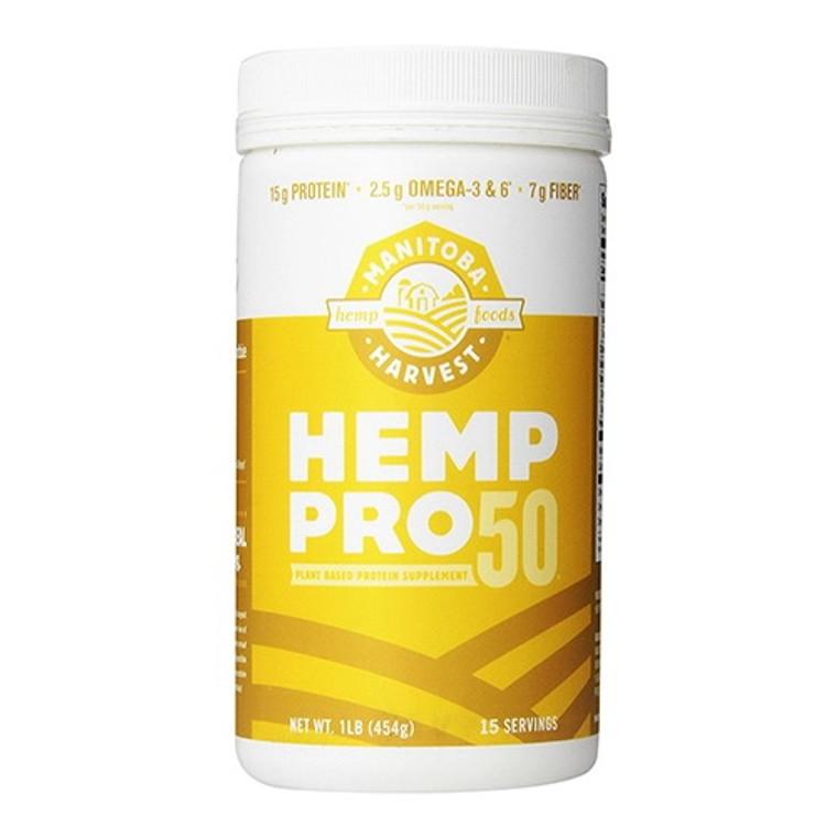 Manitoba Harvest Hemp Pro 50 Protein Powder, 16 Oz