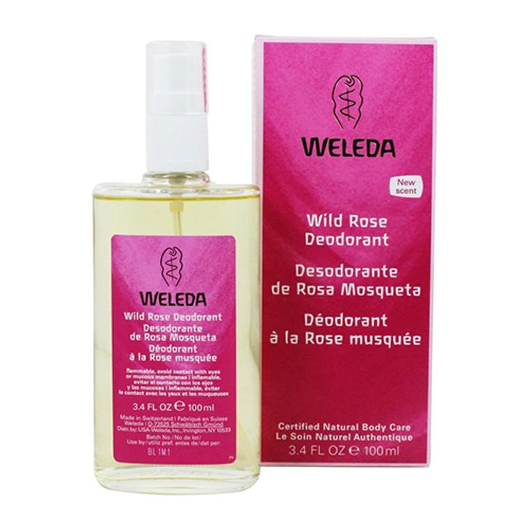 Weleda Deodorant Spray, Wild Rose, 3.4 Oz