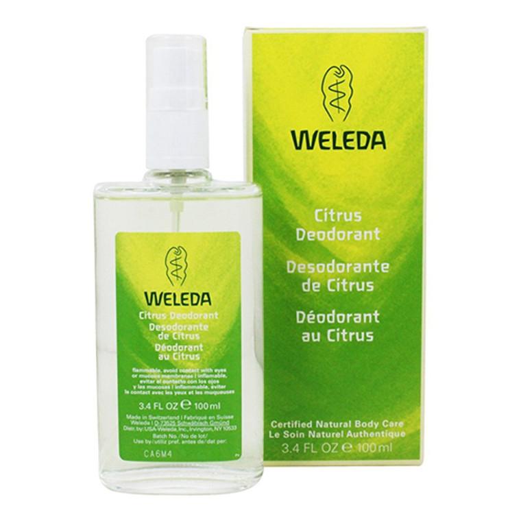 Weleda Deodorant Spray Citrus, Natural Body Care, 3.4 Oz