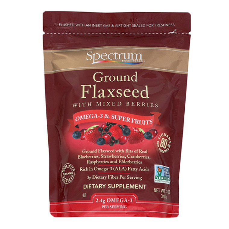 Spectrum Essentials Ground Flaxseed With Mixed Berries 12 Oz