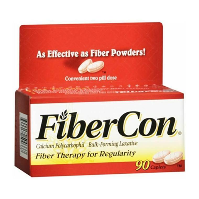 Fibercon Fiber Therapy for Regularity Calcium Polycarbophil Laxative Caplets, 90 Ea