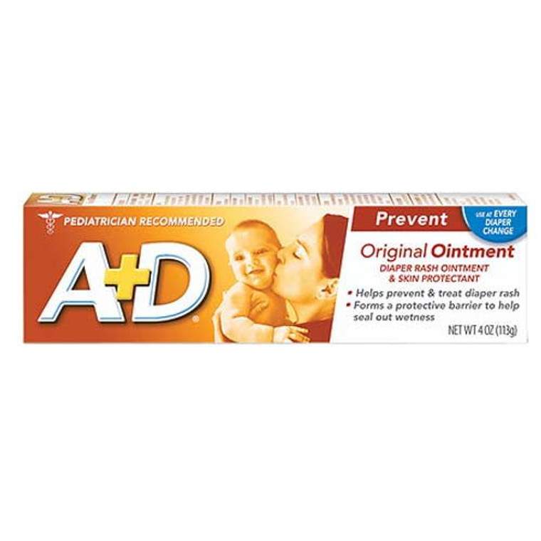 A And D Diaper Rash And Skin Protectant Original Ointment, 4 Oz