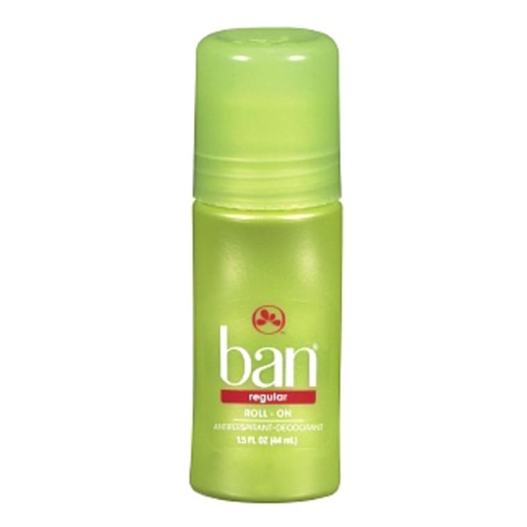 Ban Regular Roll On Antiperspirant Deodorant, 1.5 Oz