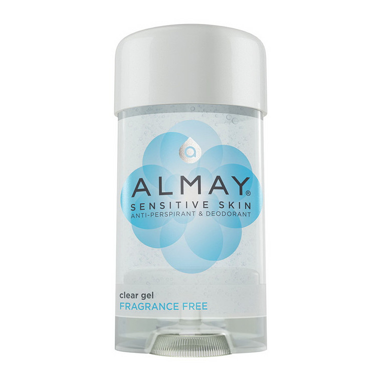 Almay Anti-Perspirant And Deodorant Sensitive Skin Clear Gel, Fragrance Free, 2.25 Oz