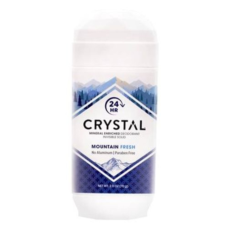 Crystal Invisible Solid Deodorant Mountain Fresh, 2.5 Oz